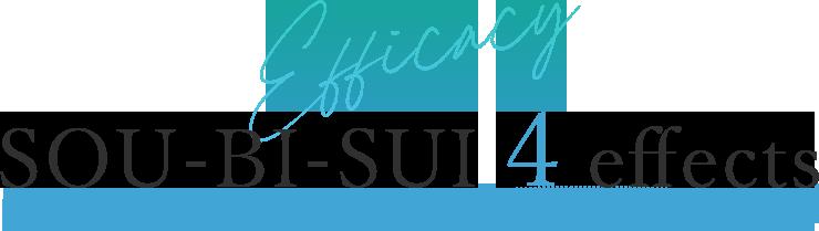Efficacy SOU-BI-SUI Four effects